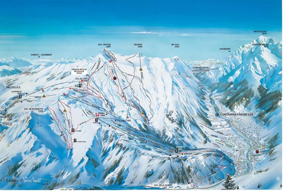 Megeve ski map