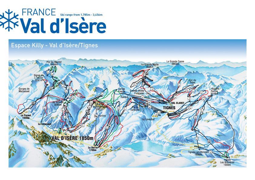 Val dIsere Tignes Ski Holidays piste map ski resort reviews