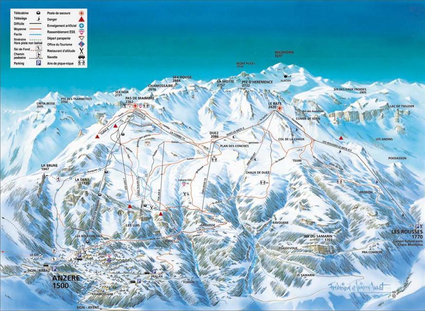Crans Montana Ski Holidays piste map ski resort reviews guide