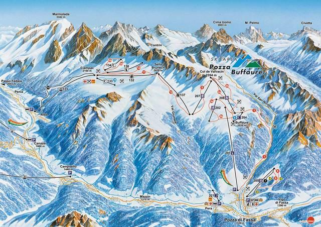 Val di Fassa Carezza Ski Holidays piste map ski resort reviews