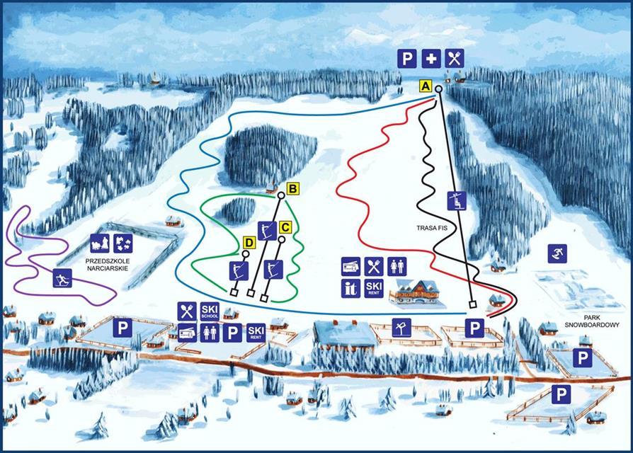 Zakopane Ski Holidays Piste Map Ski Resort Reviews Guide Book