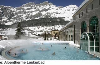 Switzerland, Leukerbad, Lindner Hotels & Alpentherme Leukerbad