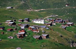Switzerland, Grachen - Matterhorn Valley, Blatten-Belalp, Feriendorf Tschuggen