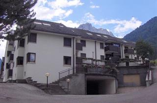 Italy, Val di Fassa - Carezza, Alba di Canazei, Condominio Enrosadira
