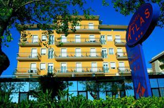 Italy, Central Adriatic Riviera, Rimini, Hotel Atlas