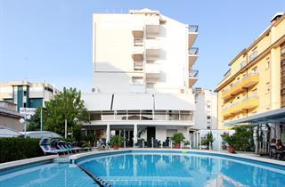 Italy, Central Adriatic Riviera, Riccione, Hotel Mauritius