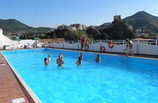 Italy, Sicily, Brolo, Hotel Il Gattopardo Sea Palace