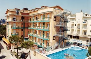 Italy, Northern Adriatic Riviera, Jesolo, Hotel Kennedy