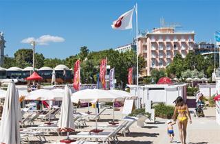 Italy, Central Adriatic Riviera, Rimini, Hotel Milton