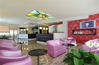 Italy, Northern Adriatic Riviera, Bibione, Hotel Amburgo