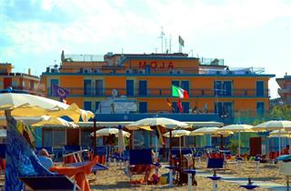 Italy, Central Adriatic Riviera, Cesenatico, Hotel Moja
