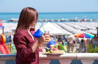 Italy, Central Adriatic Riviera, Cattolica, Hotel Garden