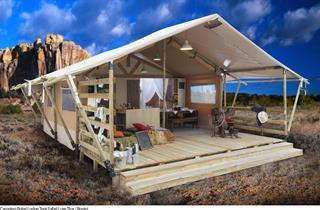 Croatia, Istria, Rovinj, Camping POLARI Lodge Tent