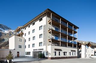 Switzerland, St. Moritz – Engadin, Sils im Engadin/Segl, Hotel Cervo