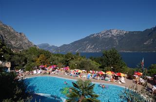 Italy, Lake Garda, Limone sul Garda, Camping Garda