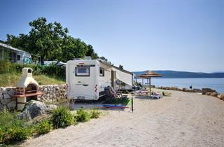 Croatia, Kvarner Gulf, Krk, Mobile Homes Camping Jezevac
