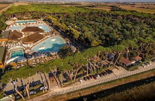 Italy, Tuscany, San Vincenzo, Camping Park Albatros