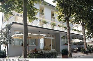 Italy, Central Adriatic Riviera, Cesenatico, Hotel Blue
