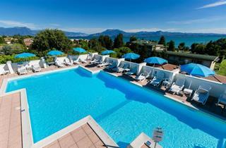 Italy, Lake Garda, Sirmione, Hotel Alfieri