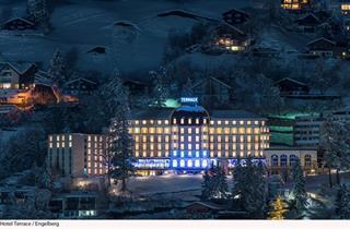 Switzerland, Engelberg, Hotel Terrace